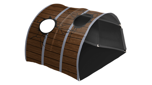Cave Pirate 90cm Brown boards print  Cannonball hole windows