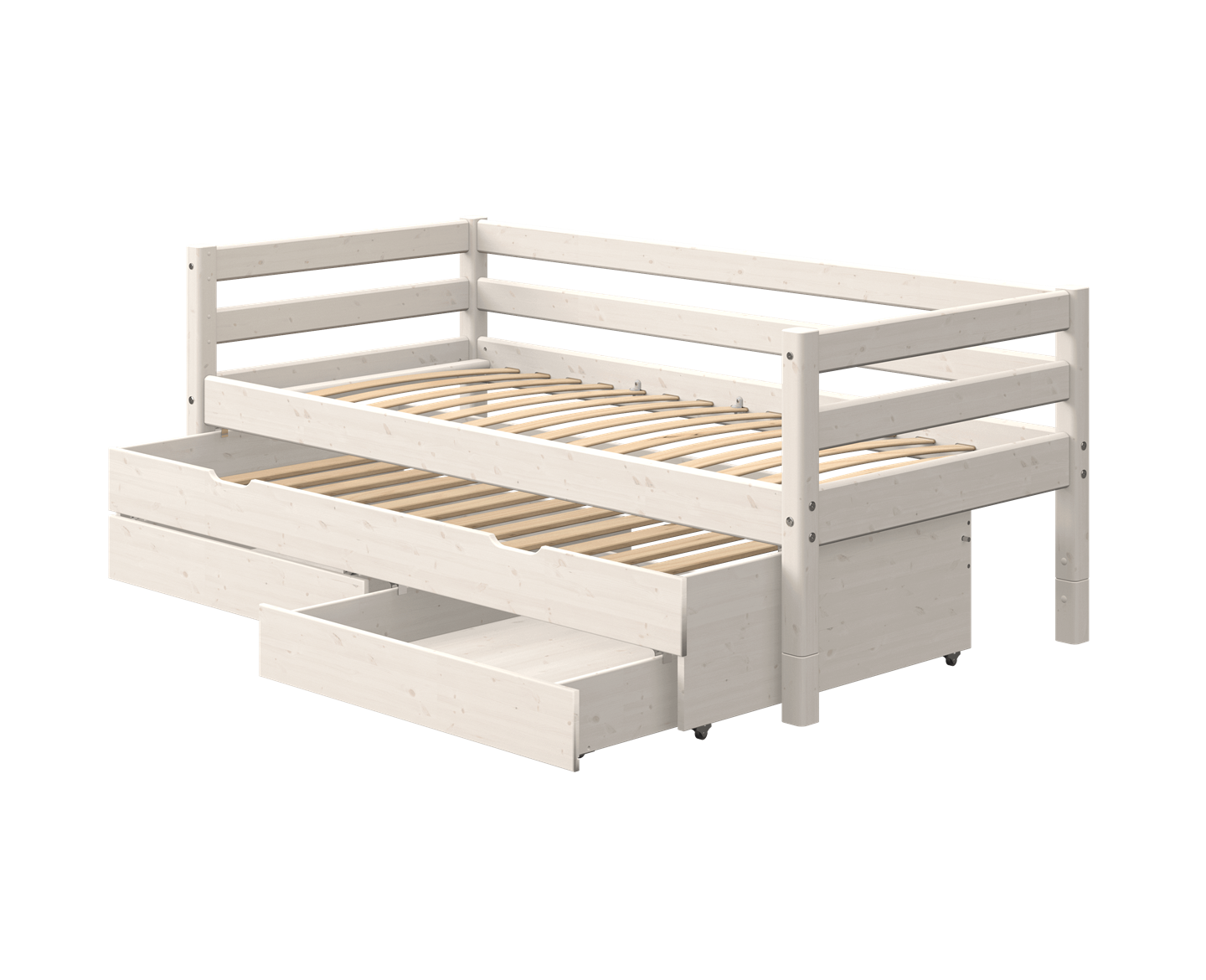 Single Bed With Trundle Pullout Bed